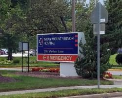 Inova Mount Vernon sign next to road