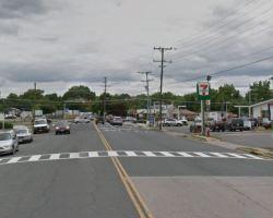 Image of crosswalk from west side of Frye Road