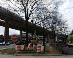 Huntington Avenue side of the Huntington Metro station