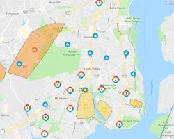 Map of outages