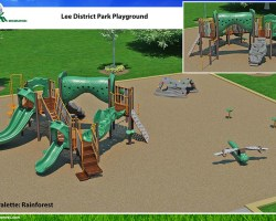 artists depiction of new playground as seen from above