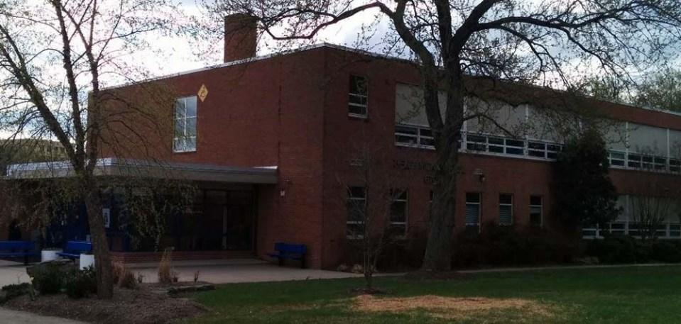 Exterior of school's main entrance