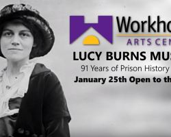 Screenshot from video Storck made about Lucy Burns Museum