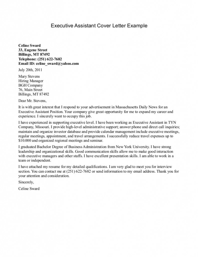 office position cover letter examples