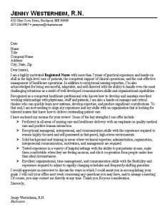 Registered Nurse Cover Letter Template 2