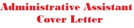 Administrative Assistant Cover Letter Banner