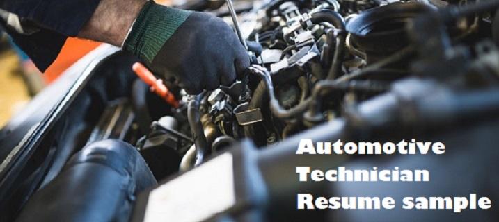 Automotive Technician Resume Example Writing Guide Clr
