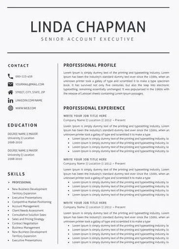 best resume templates for 2018