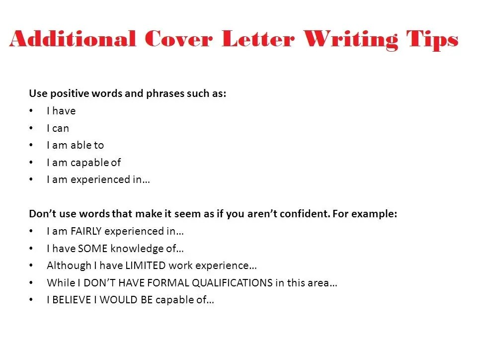 Cover Letter Writing Tips Best Guidelines To Help You