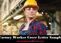 Factory Worker Cover Letter 1