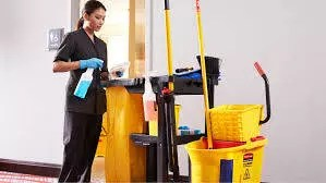 Housekeeper on work