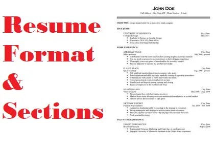 Resume Format And Sections For 2020 Clr