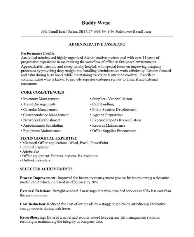 Best Resume Template 2 for 2019