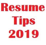 Resume Tips 2019 Banner