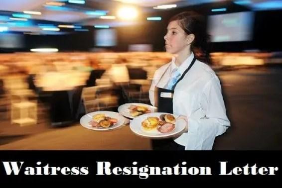 Waitress Resignation Letter Logo