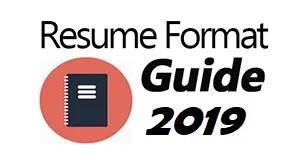 Resume Format 2019 Logo