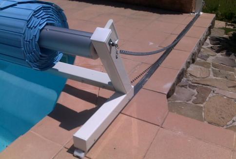 soutien volet de piscine mobile hors sol