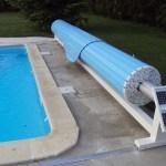 volet de piscine mobile bleu