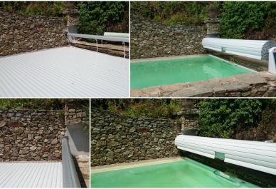 volets de piscine sur mesure alimentation solaire et fixation murale. Black Bedroom Furniture Sets. Home Design Ideas
