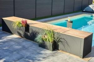 structure aluminium laquage noir pour votre banc de volet piscine