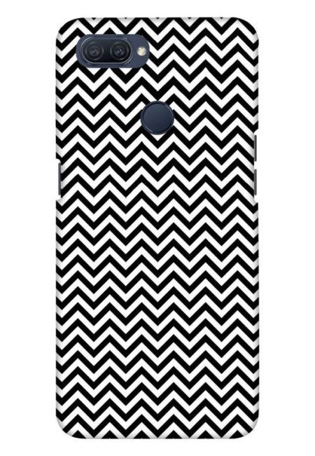 White & Black Zigzag Mobile Cover For Oppo A12