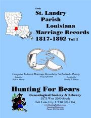 Early St. Landry Parish Louisiana Marriage Records Vol 1 ...