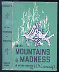 h. p. lovecraft at the mountains of madness HP lovecraft vinatge book cover