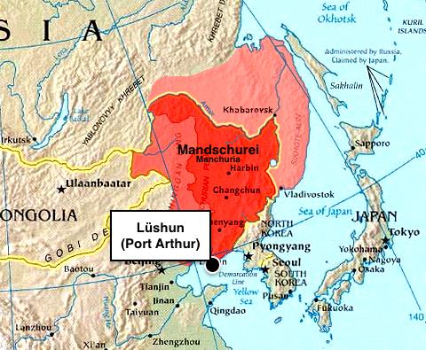 Karte der Mandschurei