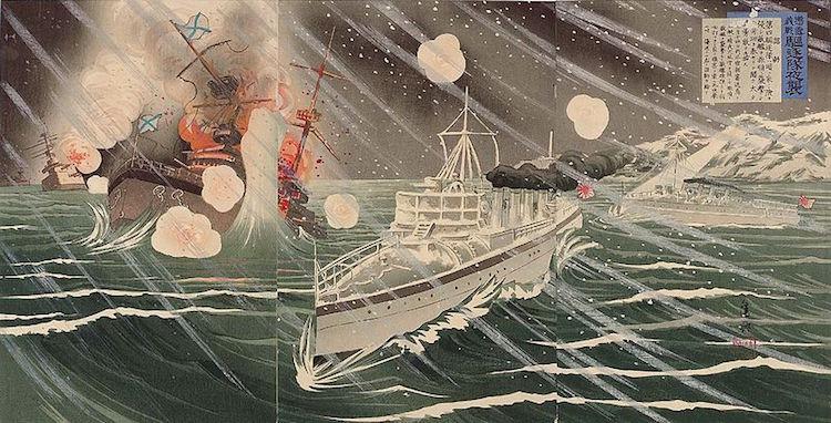 Japanische Attacke auf russischen Zerstörer (1904)