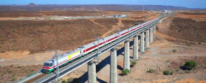 The Chinese-built Addis Ababa–Djibouti Railway, one link in Beijing's massive Belt and Road network.