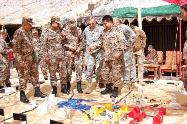 U.S.-JAF leaders review sand table