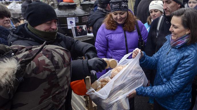 Muddling and meddling'? US, EU politicians plunge deeper into Kiev protest  — RT World News