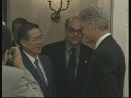USA: PRESIDENTS FUJIMORI /MAHUAD/CLINTON PRESS CONFERENCE | AP Archive