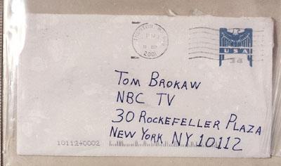 Amerithrax Investigation: Letter to Tom Brokaw