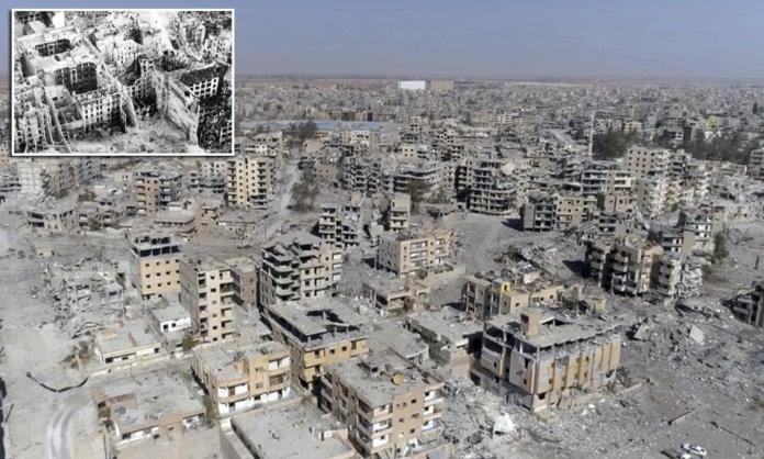Shocking photos show bombed city of Raqqa after liberation | Daily Mail Online