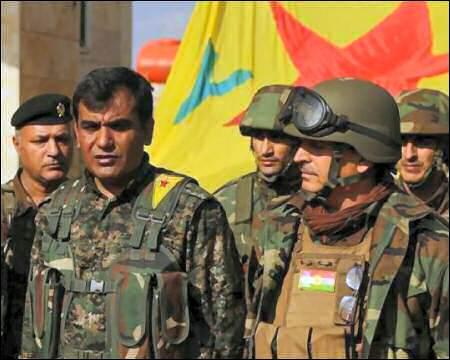 YPG commander and Peshmerga commander
