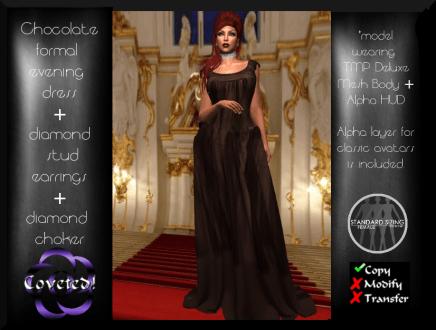 Brown Formal Evening Dress