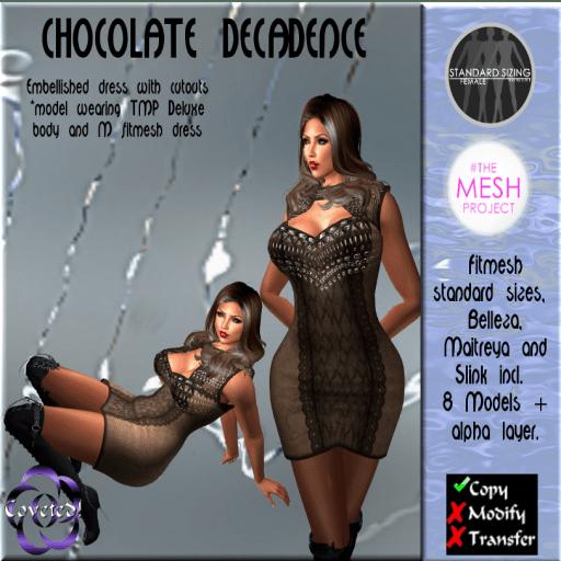 Chocolate Decadence Fitmesh (TMP) + Belleza, Matreya, Slink
