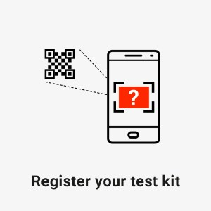 register your test kit using a QR code