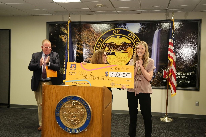 Oregon State University student wins the $1 million Take Your Shot Oregon incentive prize
