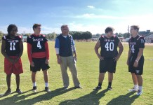 100 Yards with Brighton football players