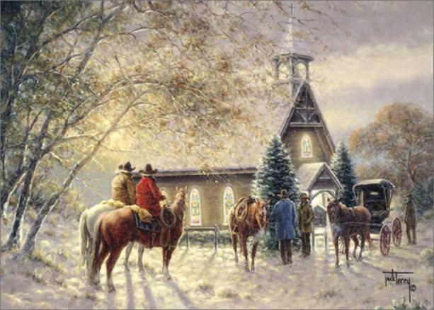 cowboys-outside-church-jack-terry-christmas-card.jpg?resize=613%2C438