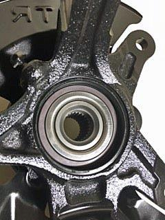 c4-knuckle showing wheel bearing