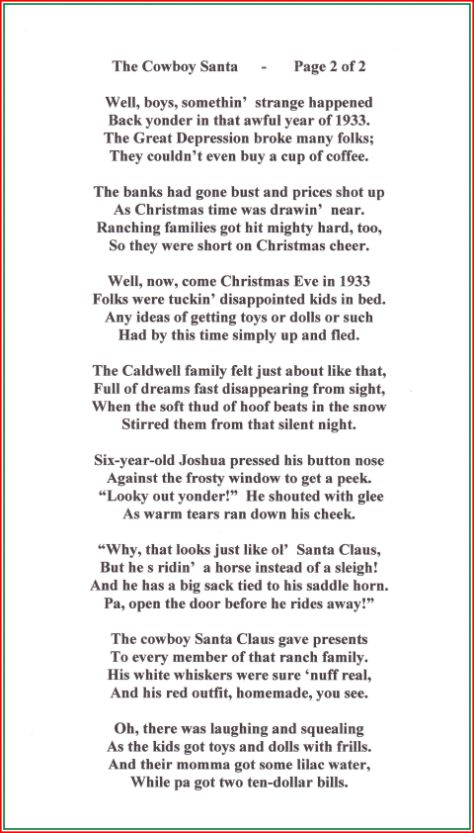 A 100 Cowboy Christmas Poems Songs And More The