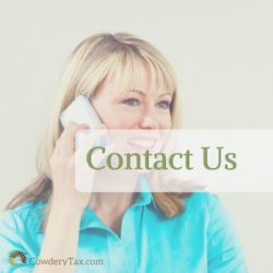 Contact us for Tax Return Services or Bookkeeping Services | CowderyTax.com