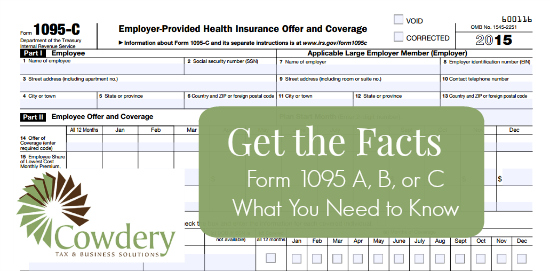 Form 1095 A,  B,  or C for 2015, What You Need to Know | CowderyTax.com