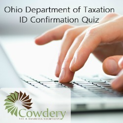 ID Verification Quiz for Ohio Tax Payers