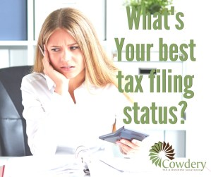 What is Your Best Tax Filing Status?   CowderyTax.com