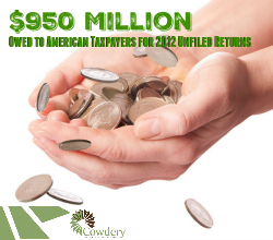 $950 Million Owed for Unfiled Returns for 2012   CowderyTax.com
