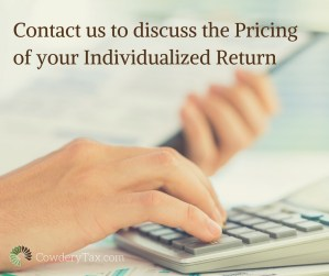 Pricing at Cowdery Tax & Business Solutions